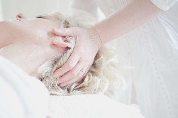 Massage the scalp