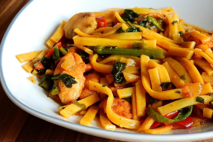 served noodle dishes