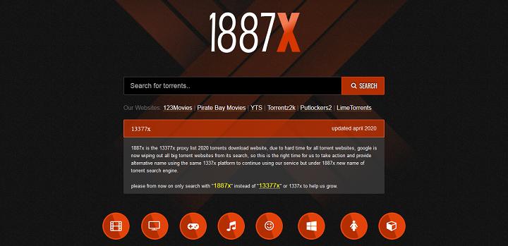 13377x Proxy - 1887x Torrent Search Engine